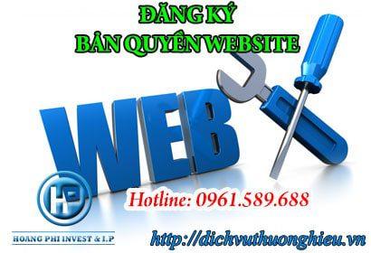 Đăng ký bản quyền giao diện website