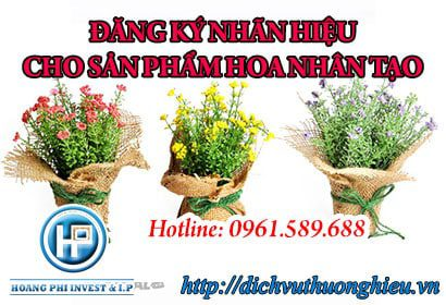đăng ký nhãn hiệu cho sản phẩm hoa nhân tạo